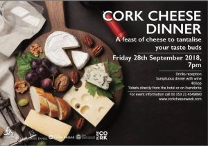 Cork Airport Hotel to host first ever gala cheese dinner