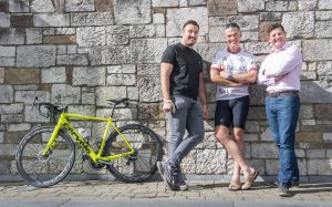 Irish rugby star Niall Scannell welcomes Dalata staff during charity cycle