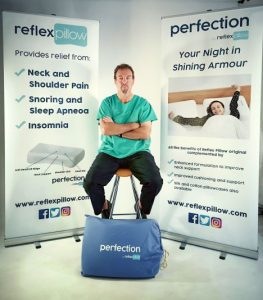 Irish inventor Noel O'Connor invents the perfect pillow!