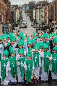 Over 158 Cork Paddys celebrate the refurbishment of 158 year old St Patrick's Bridge