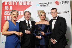 Cork's Dynamic Duo Tech Entrepreneurs Walk Away with Tech Person of the Year Award