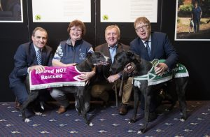 Minister Michael Creed launches the 'Our People, Their Stories' campaign in celebration of the work of the Irish Retired Greyhound Trust