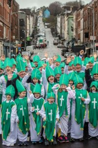 Over 158 Cork Paddys celebrate the refurbishment of 158 year old St Patrick's Bridge