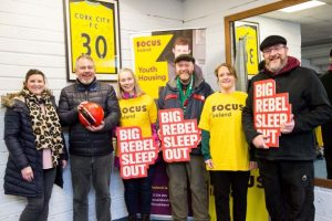 'Rebel Sleeping Out' for Focus Ireland