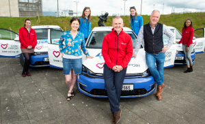 Cork Airport sponsors WLR's new outside broadcast unit and three new 100% electric E Golfs