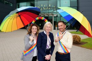 All nine Johnson & Johnson sites in Ireland will proudly display the Pride flag this month