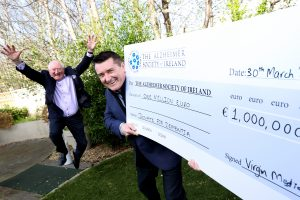 Virgin Media Television's Donate for Dementia campaign raises €1 million for The Alzheimer Society of Ireland